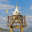 Part of ruin of Thai church bell tower expose in river — Stock Photo #36043843
