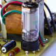 Old electronic board using vacuum tube — Stock Photo