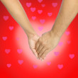 Stock Photo: Love hands, love background