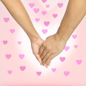 Love hands, love background — Stock Photo