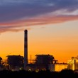 Gas turbine electrical power plant at dusk — Stock Photo #37401037