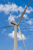 Rear side of wind turbine — Stock Photo