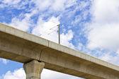 электрические небо поезд железной дороги — Стоковое фото