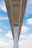 электрические небо поезд железной дороги, вид муравья — Стоковое фото