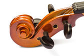 Scroll and pegbox of violin — Stock Photo