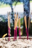 Joss pinnar bränning — Stockfoto