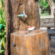 Stock Photo: Wooden washbasin