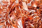 Scrapheap of copper foil (sheet) — Stock Photo