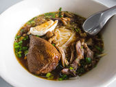 Rice noodles with stewed duck — Stock Photo