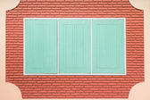 Teal wooden window — Stock Photo