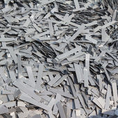Scrapheap of silicon steel — Stock Photo