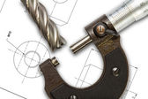 Micrometer — Stock Photo