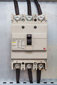 Three phase circuit breaker — Stock Photo