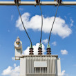 Oil immersed transformer — Stock Photo #41632745