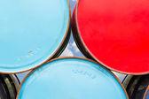 Metal oil barrels — Stock Photo