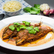Spicy mackerel dish — Stock Photo