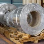 Aluminium coils — Stock Photo #48958419