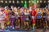 Fancy running athletes in mini-marathon race — Foto Stock