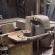 Old bench vise — Stock Photo #51048815