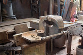 Old bench vise — Stock Photo