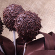 Chocolate sprincle cakepops — Stock Photo
