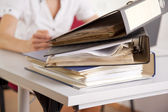 File folder in the office — Stock Photo