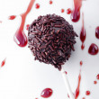 Chocolate cake pop — Stock Photo