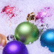 Shiny colorful christmas balls - Stock Photo
