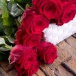 Stock Photo: Red roses for wedding