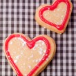 Handmade delicious  heart pastry — Stock Photo