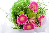 Romantisk bukett med rosa blommor — Stockfoto