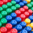 Stock Photo: Colorful plastic bricks