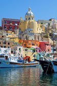 Corricella, Procida Isle, Italy — Stock Photo