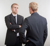 Two businessmen discussing — Stock Photo