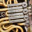 Detail of french horn — Stock Photo