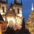 Prague christmas market - Stock Photo