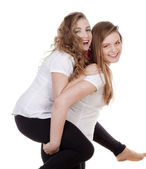 Two young female friends — Stock Photo