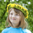 Stock Photo: Child with a flower wreath