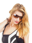Portrait of a Teenage Girl with Sunglasses — Stock Photo