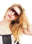 Portrait of a Teenage Girl with Sunglasses — Zdjęcie stockowe