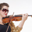 Young Female Musician Playing Violin — Stockfoto