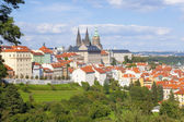 Prague - Hradcany Castle and St. Vitus Cathedral — Stock Photo