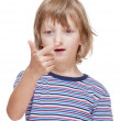 Boy Counting on Fingers of his Hand — Stock Photo #39461189