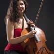 Young Woman with Violoncello — Stock Photo #41024171