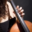 Stock Photo: Female MusiciPlaying Violoncello