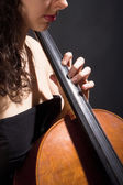 Female Musician Playing Violoncello — Stock Photo