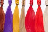 Artificial Hair Used for Production of Wigs  — Stock Photo