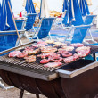 Barbecue on the beach - Foto Stock