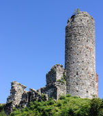 Remains of medieval castle — Stock Photo