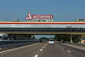 Autogrill on highway — Stock Photo